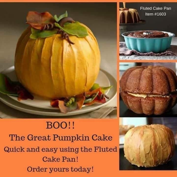 What Another Pumpkin Idea It S National Pumpkin Day If You Made Ate This Would You Pampered Chef Desserts Pampered Chef Consultant Pampered Chef Recipes