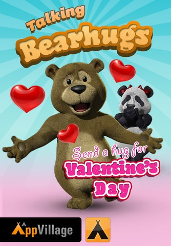 Download #talkingbearhugs from iTunes. Send a hug for #valentinesday appvill.co/BearHugsSC