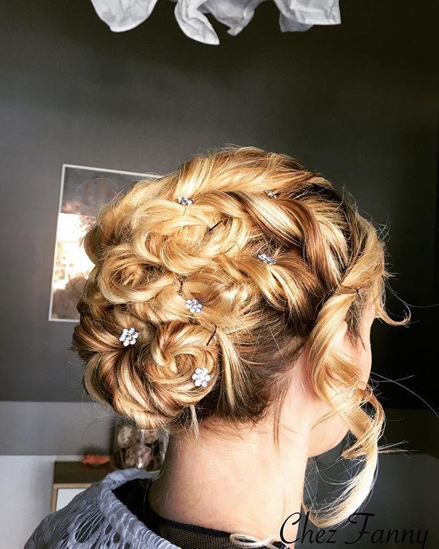 Chignon romantique 💕  #chignon #hairstyle #hairdresser #lovemyjob #hair #instachignon
