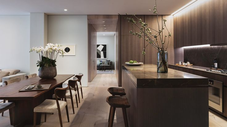 A model residence has been completed inside Tadao Ando's apartment block in New York, offering a glimpse inside the Japanese architect's first residential building outside Asia.