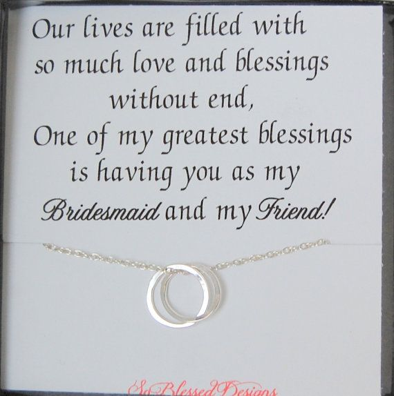Bridesmaid necklaces Bridal party gifts by SoBlessedDesigns, $39.00