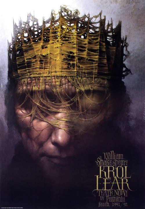 King Lear, Shakespeare, Polish Theater Poster
