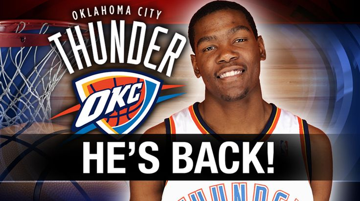 UPDATE: On Tuesday, Thunder head coach Scott Brooks announced that Kevin Durant is back and will play against the Pelicans. He will also be a on a 30 minute restriction.   OKLAHOMA CITY - Okla...