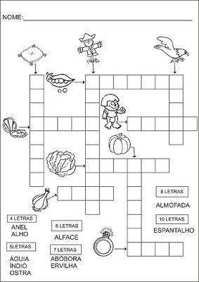 Eduque e transforme: ATIVIDADES COM CRUZADINHAS E CAÇA-PALAVRAS