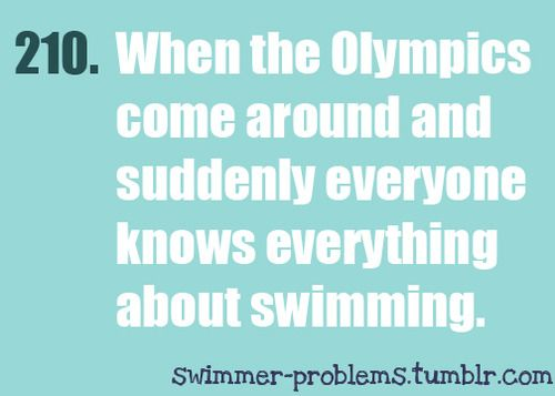 """And all of a sudden likes a swimmer/diver because he is """"hot"""""""