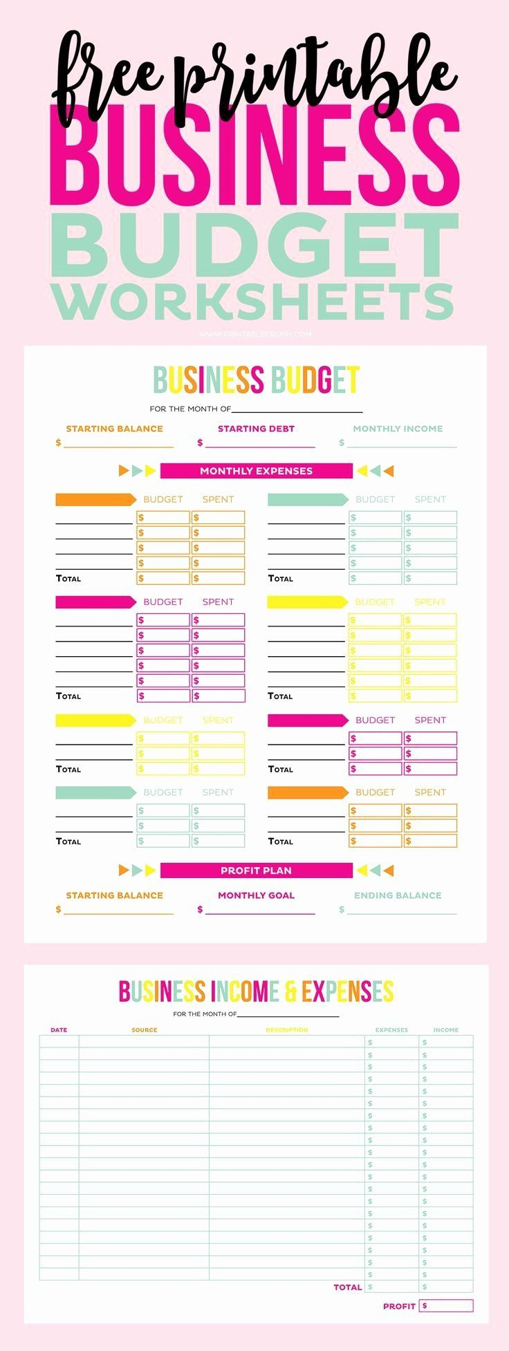Small Business Budget Template Lovely Make Tax Time A Little Less So With These Free Printable Budgeting Worksheets Business Budget Template Budgeting
