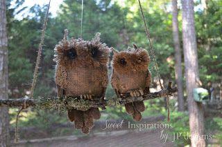 Burlap Owls�6:06 AM�Gail @Purple Hues and Me�crafts diy�40 commentsBurlap Owls