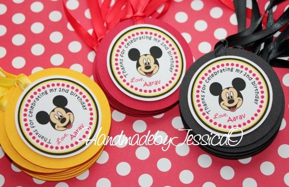 Mickey Mouse Favor tags  Mickey Mouse Treat by HandmadebyJessicaO, $15.00