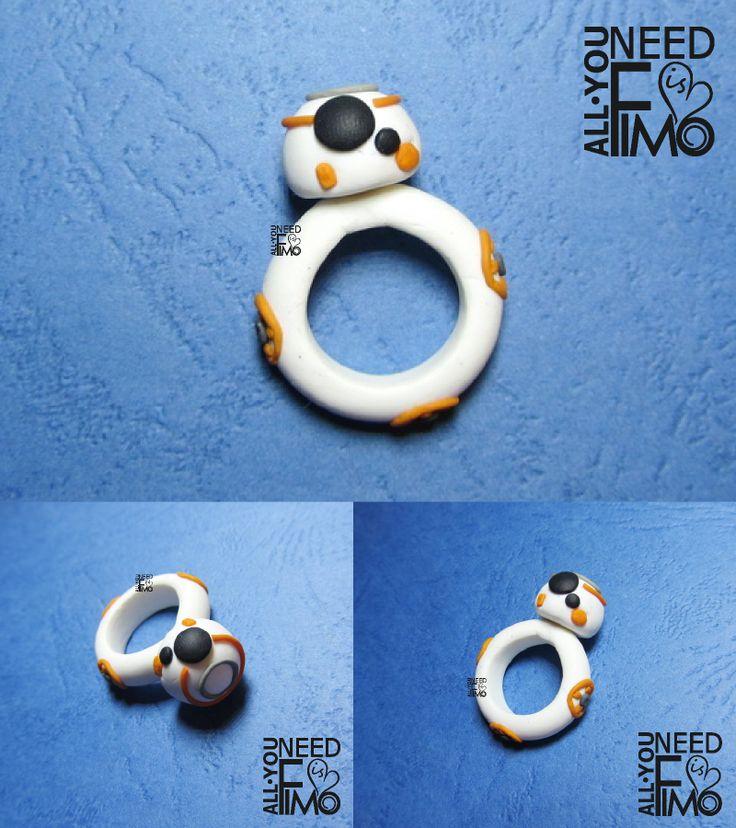 Fimo ring inspired by BB-8 INFO: https://www.facebook.com/AllYouNeedIsFimo/photos/a.937250929688782.1073741828.932013750212500/1014971858583355/?type=3&theater \/ #fimo #polymerclay #artigianato #fattoamano #handmade #anello #ring #bb8 #starwars #theforceawakens #starwarsday #droid #nerd #geek #cinema #film #movie #starwarssaga #allyouneedisfimo #jewelry #fimocreations #fimoclay