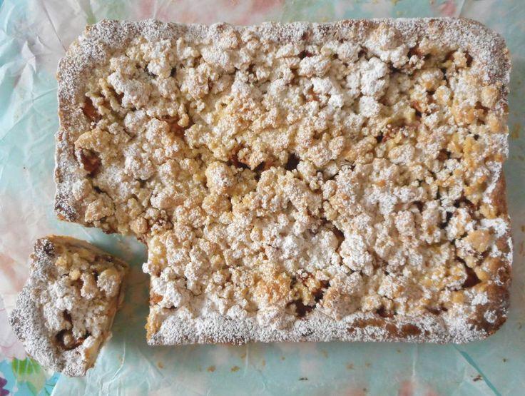 Appelkruimel plaattaart met walnoten / Taart & gebak / Recepten | Hetkeukentjevansyts.jouwweb.nl
