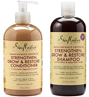 This Shea Moisture shampoo & conditioner can be found at Walmart or Target and it works AMAZING at growing hair quickly!!! I had to stop using it because it made mine grow too fast ✨😂😂😂✨. Just thought I would pass this along ;~}. ✨💗💗👸💗💗✨