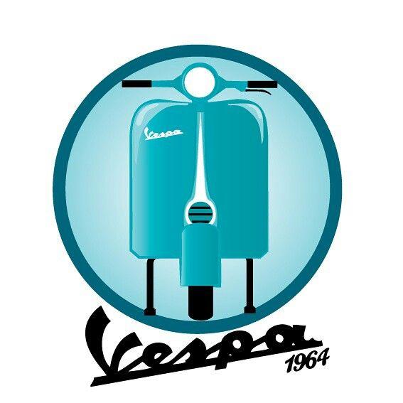 #Vespa1964 #vespa #vector #simple