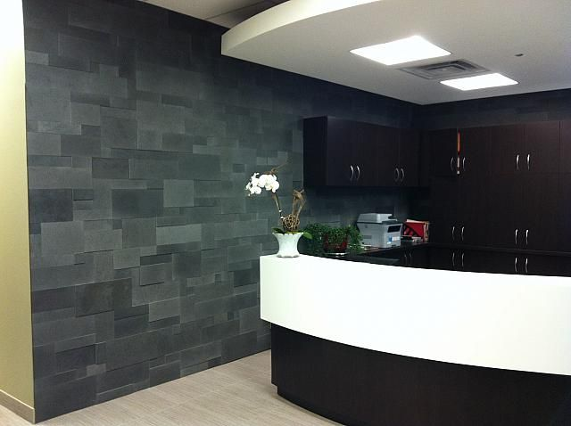 office reception area. erthcoverings lavastone handipak office reception areareception area