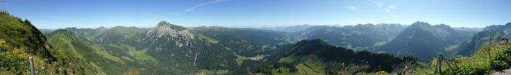 Panorama #Walmendingerhorn - #Widderstein#Hotel Alte Krone#