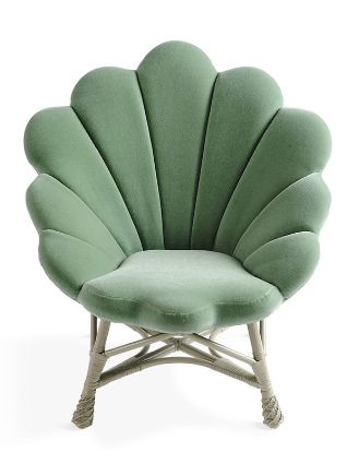 Shell like upholstered Venus Chair.