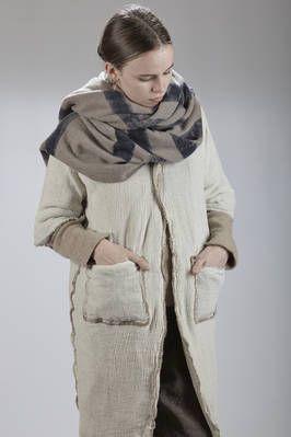 Daniela Gregis | knee-length padded coat in wool crêpe with the inner side in cashmere muslin | #danielagregis