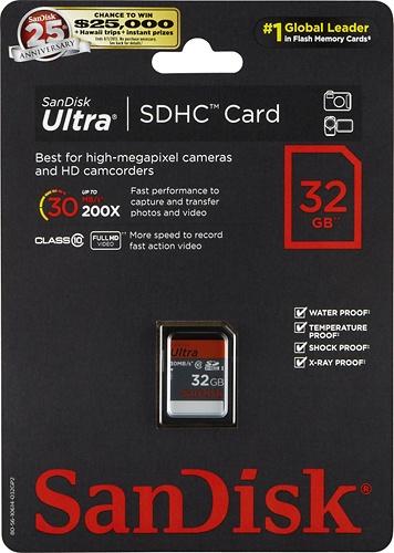 Ultra 32GB Secure Digital High Capacity (SDHC) UHS-I Class 10 Memory Card