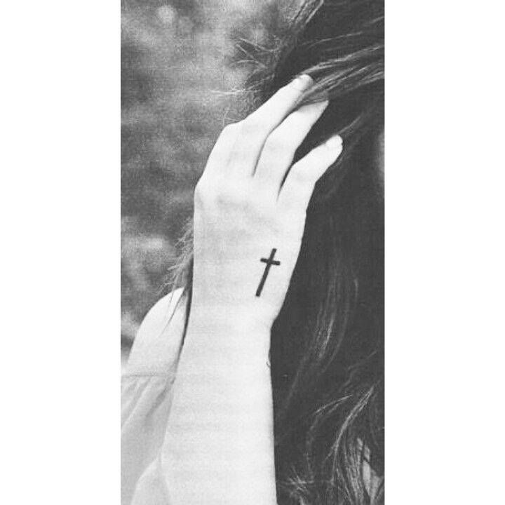 Cross Crucifix Hand Tattoo