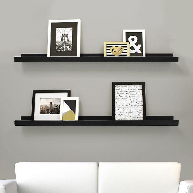 Kiera Grace Edge Wall Ledge Shelf 2-piece Set, Black