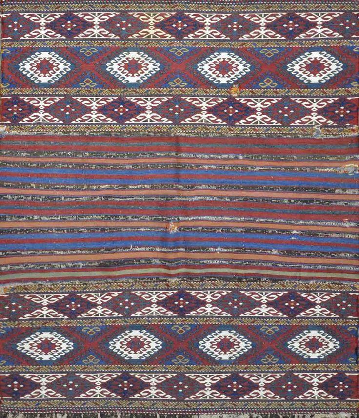 "Carpet Culture - TURKMAN OLD RUG - 3' - 9"" X 4' - 6""  - CC2097"