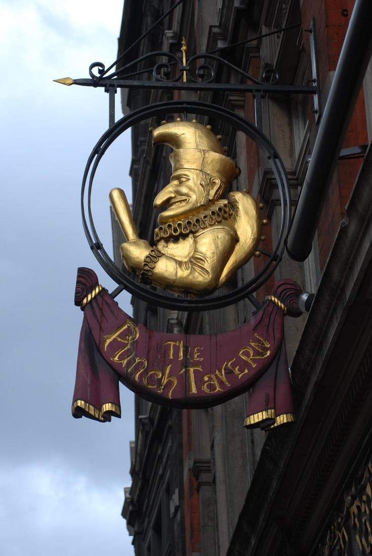 The Punch Tavern, Fleet Street • One of the older pubs in the old publishing…