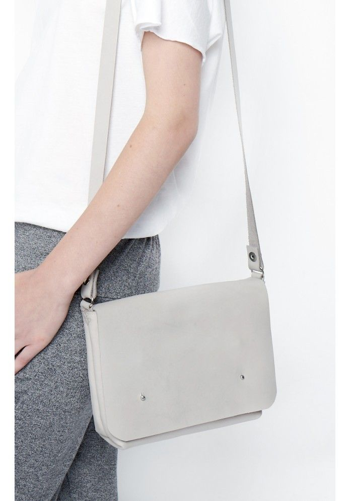 PUC, Grey Going Out Satchel // UK retailer THE ACEY