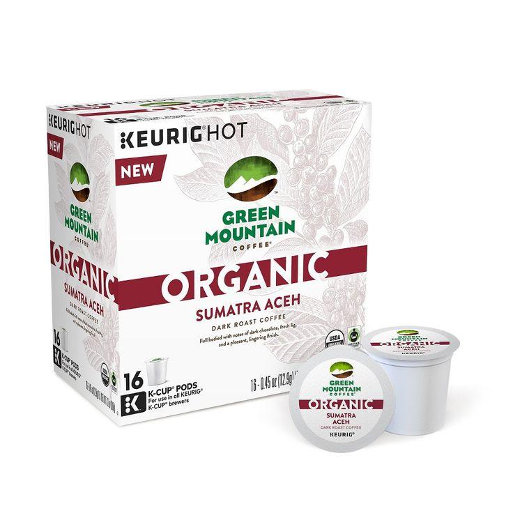 Great Mountain Organic Sumatran Aceh Dark Roast Coffee - K-Cup Pods - 16ct