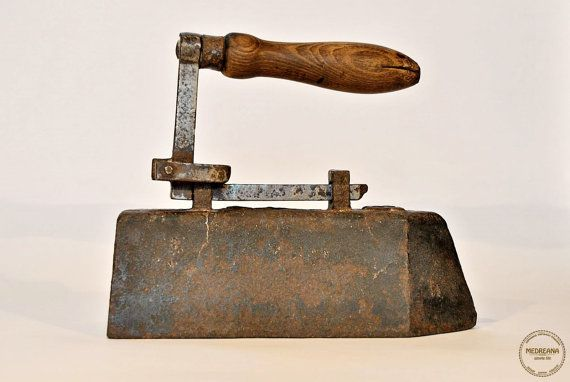 Antique Primitive Sad Iron from the early by VintageMedreana, $175.00