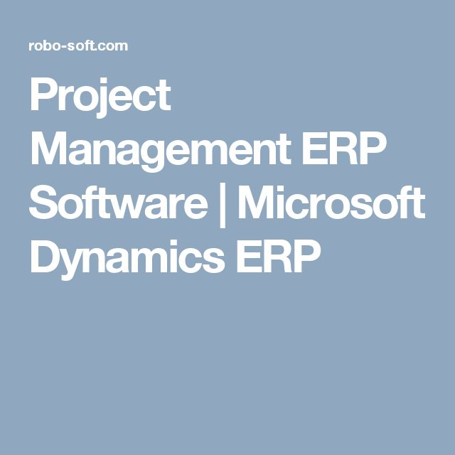 Project Management ERP Software | Microsoft Dynamics ERP