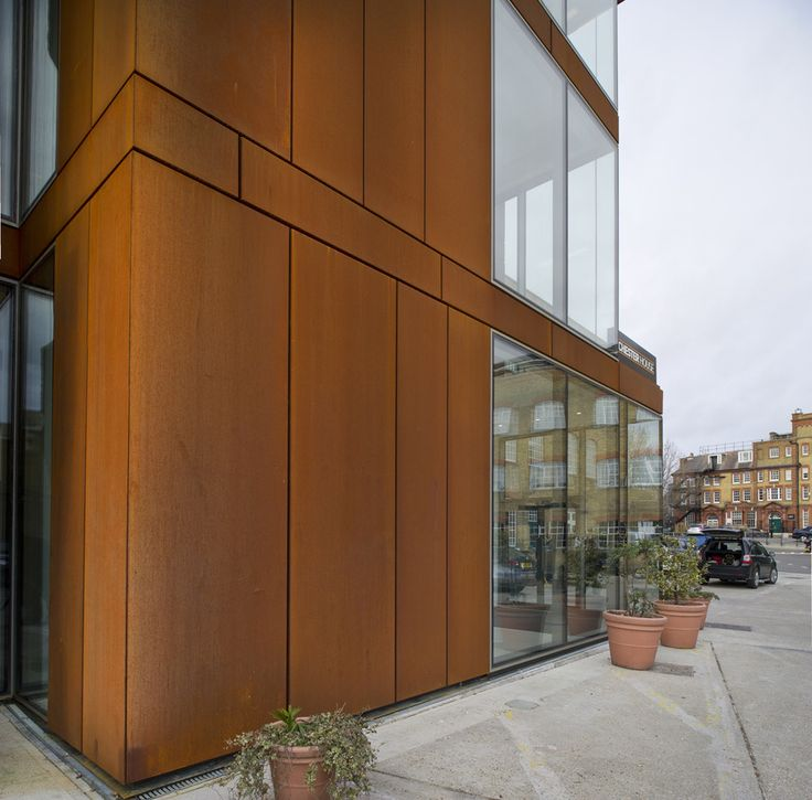 Office | Benchmark by Kingspan | Karrier Engineered Facade System | Copper | Corten Steel | Wall | Facade