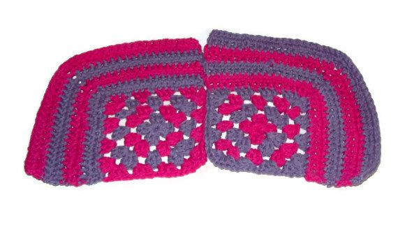 Granny Square Corner Dishcloth Set Of 2 Hot Pink & by amydscrochet, $6.00