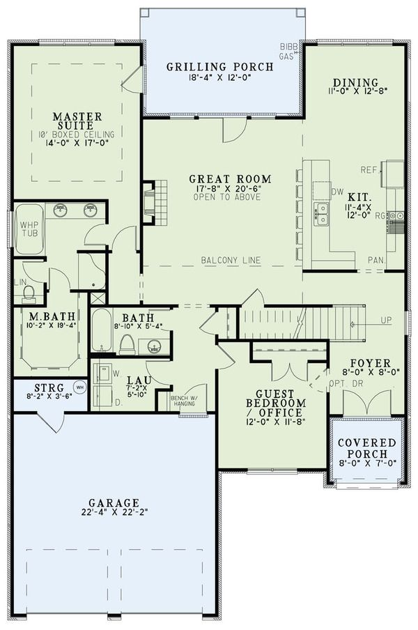 Tudor Style House Plan 4 Beds 3 Baths 2454 Sq Ft Plan 17 2494 House Plans How To Plan Floor Plans