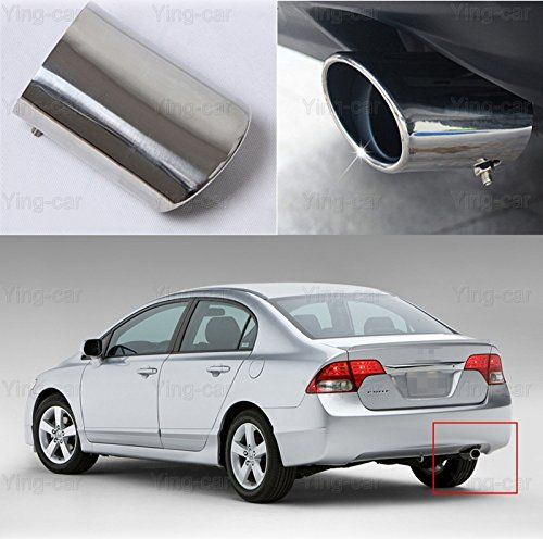 1 pcs Oval Tailpipe Exhaust Muffler Tail Pipe Tip for Honda Civic 2009-2016  100% Brand New (Quality Checked before shipping)  Material: Stainless Steel, high quality guarranteed  Custom Fit, Easy to Install !, NO drilling and NO welding.  Repeated polishing processing, bright as a mirror, highlighting the noble quality  Fit for Honda Civic 2009 2010 2011 2012 2013 2014 2015 2016