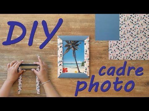 DIY #1 Comment réaliser un cadre photo en carton - YouTube