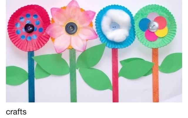 spring paper plate flowers