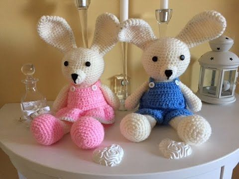 Tutorial coniglietto amigurumi (schema) - YouTube