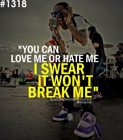 I swear it won't break me