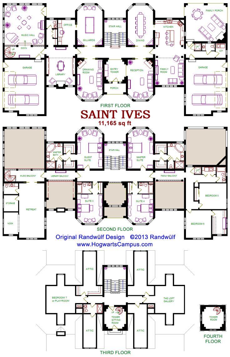 Http Randwulf Com Hogwarts X11165 Aspx Floor Plans