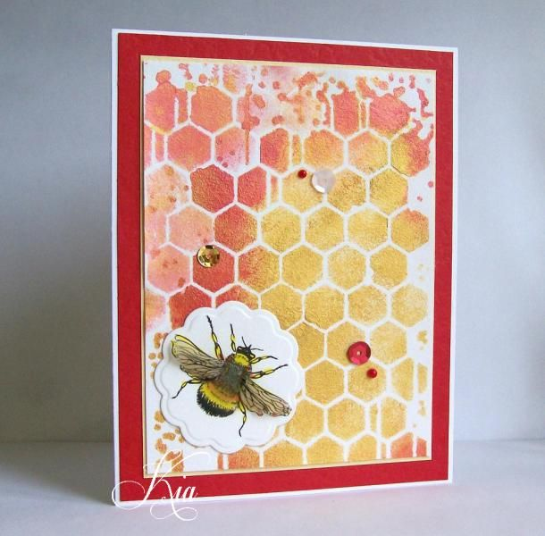 A Honey of a Bee CAS320 by kiagc - Cards and Paper Crafts at Splitcoaststampers