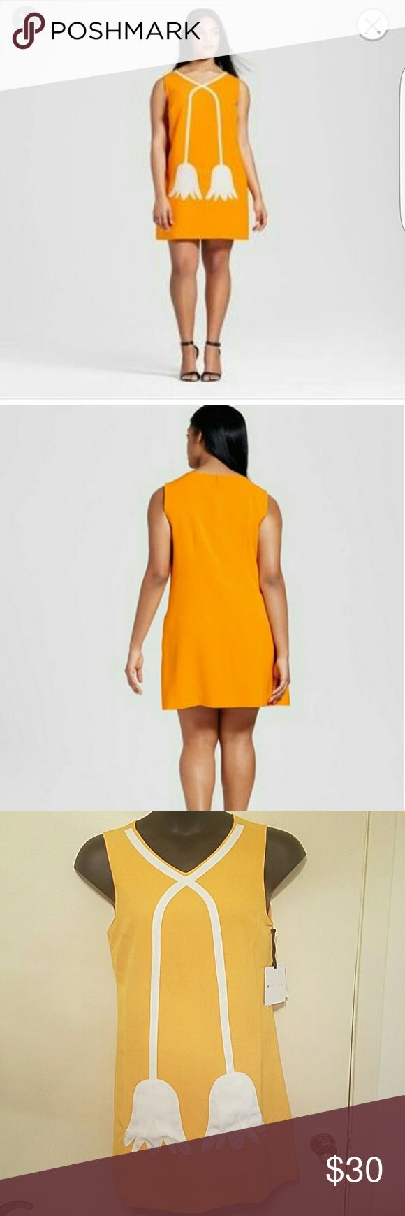 Nwt Victoria Beckham yellow tulip dress Med Zip up the back Length 33 Shell 94% polyester 6% spandex Lining 100% polyester Victoria Beckham for Target Dresses