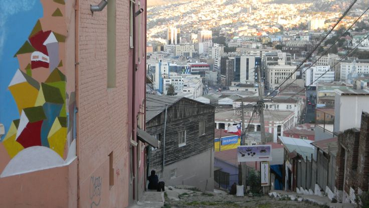View from hill, Valparaiso Chile