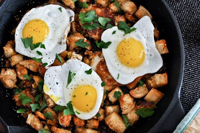 Use Thanksgiving leftovers to make Breakfast Hash with Cheddar Mashed Potato Pancakes.