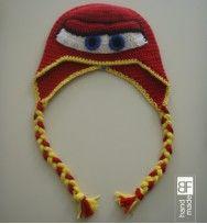 Crochet hat mcqueen