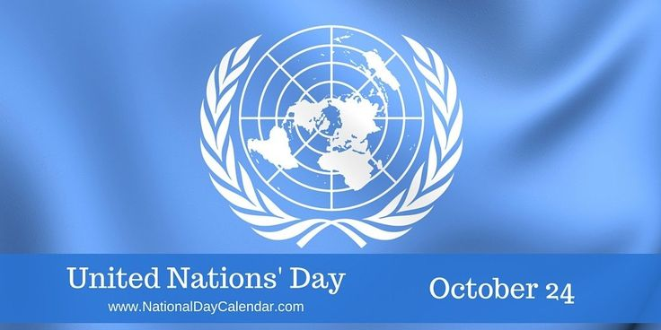 United Nations Day is observed annually on October 24. It is the anniversary of the founding of the United Nations in 1945.