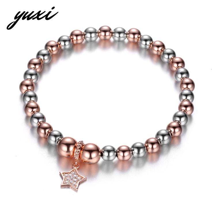 Silverly Women's .925 Sterling Silver 4 mm Round Bead Ball Elastic Stretch Bracelet L4SBp