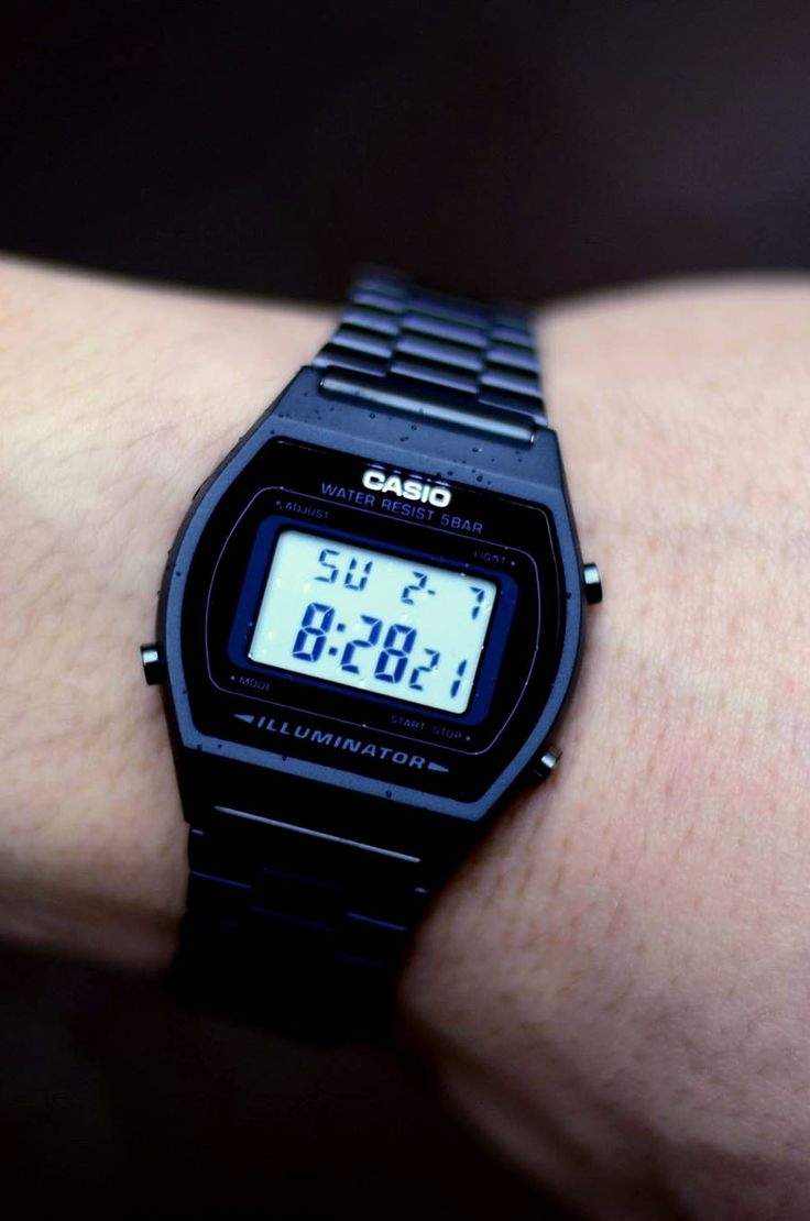CASIO Digital Black Stainless Steel Strap Watch