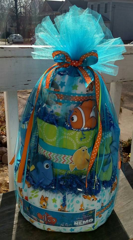 Hey, I found this really awesome Etsy listing at https://www.etsy.com/listing/259990072/disney-pixar-finding-nemo-diaper-cake