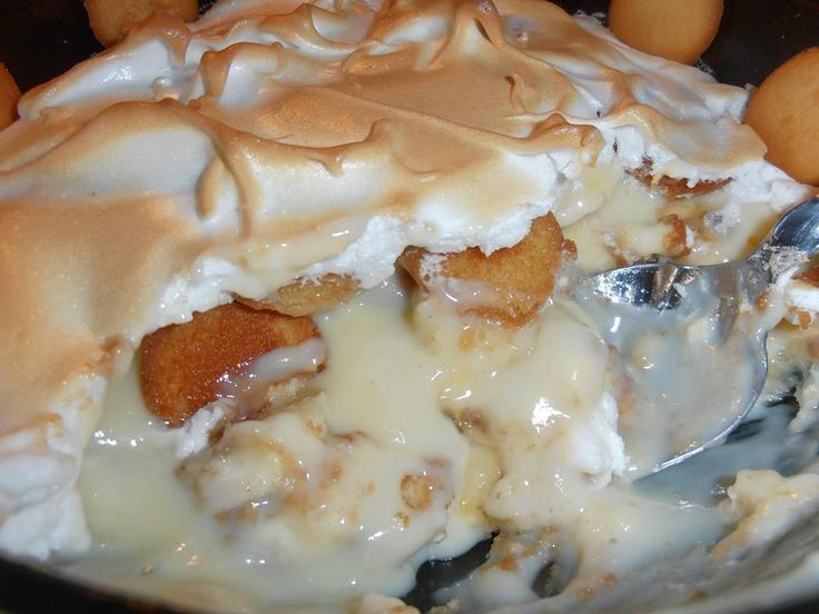 Old Fashioned Banana Pudding by Janet's Appalachian Kitchen  Old Fashioned Banana Pudding  1/2 C. sugar 1/3 C. flour pinch of salt  3 eggs, separated 2 C. milk  1/2 tsp. vanilla extract 1 box vanilla wafers  5 ripe bananas, sliced  1/4 C. sugar for meringue pinch of cream of tartar