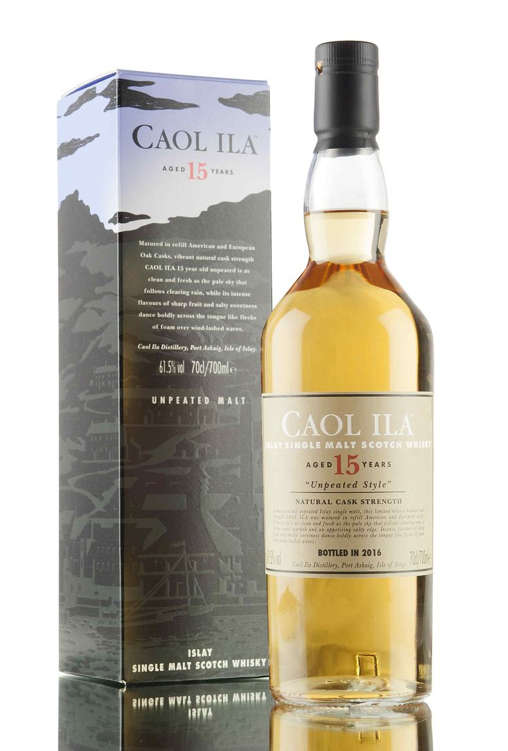 An unpeated expression of Caol Ila, matured in American & European oak casks for 15 years. Bottled at cask strength, 61.5% - released as part of the 2016 'Special Releases' from Diageo.
