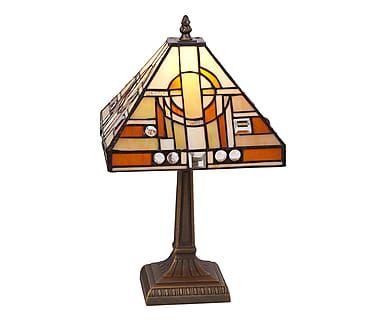 Lampada da tavolo in zinco e vetro Picasso, 23x38x23 cm
